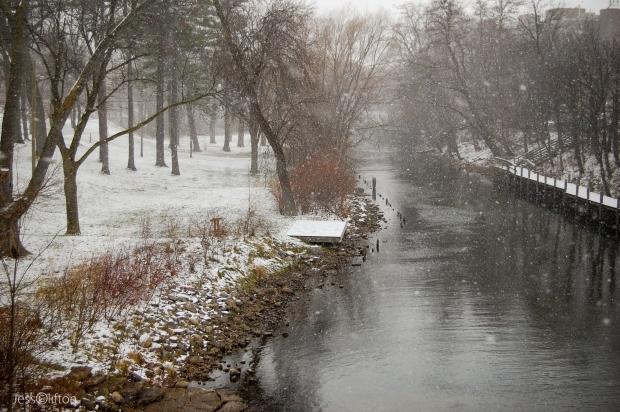 Boardman River Snowing