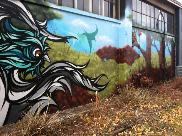 Inside Out Gallery Bird Graffiti Traverse City