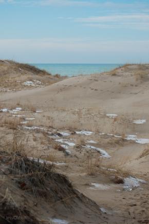 Snow Nordhouse Dunes Lake Michigan