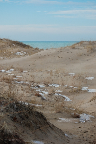 Snow Nordhouse Dunes Lake Michigan