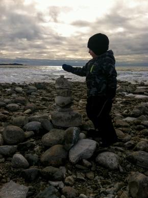 Winter Jackson Stacking Stones