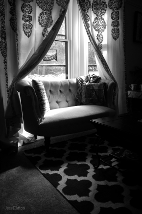 Home Interior B&W