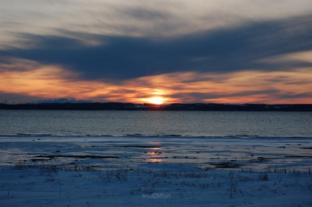 OMP Winter Sunset