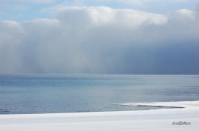 Snow Clouds Lake Michigan