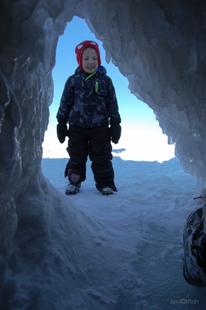 Lake Michigan Ice Cave