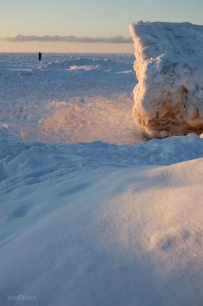 Snow Reflected Sun