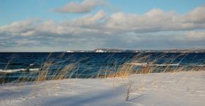 Snow Banks & Sunbathed Grass