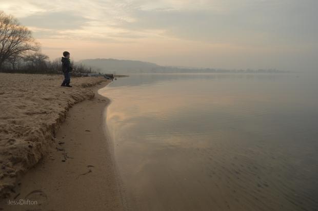Foggy Beach Exploration