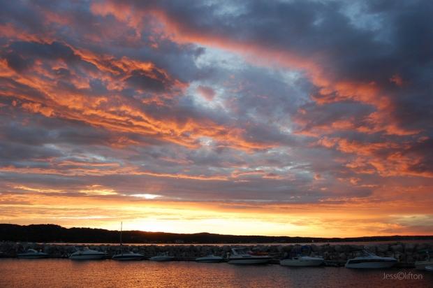 Traverse City Marina Sunset