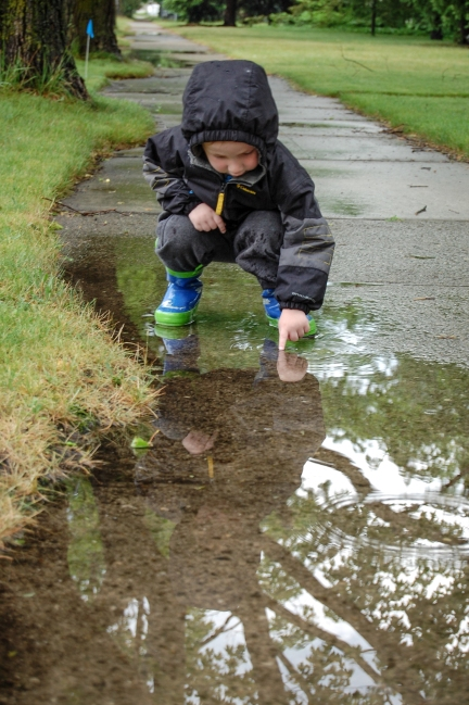 Child & Rain Puddle