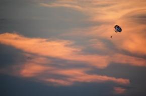 Parasail Silhouette Sunset Sky