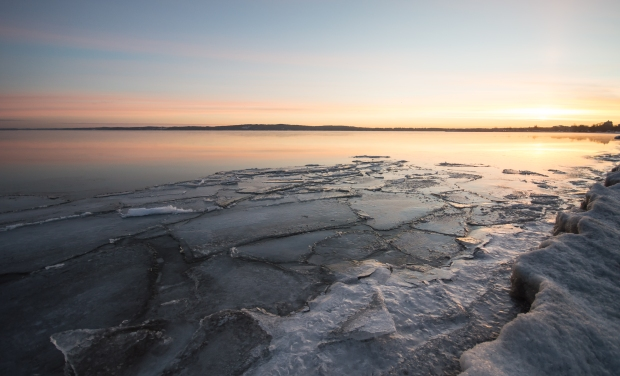 Lake Ice at Sunrise