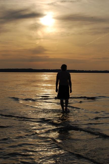 Water Walker Elk Rapids Lake Michigan Sunset