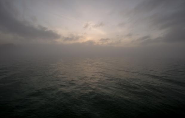 fog lake michigan water surface
